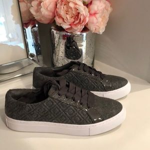 Tory Burch Marion quilted lace up sneakers